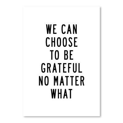 Americanflat We Can Choose to Be Grateful No Matter What Typography