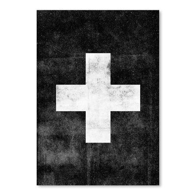 Americanflat Swiss Cross Graphic Art on Canvas