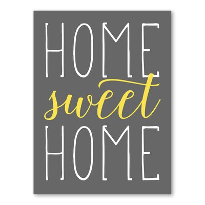 Americanflat Home Sweet Home Typography in Canary