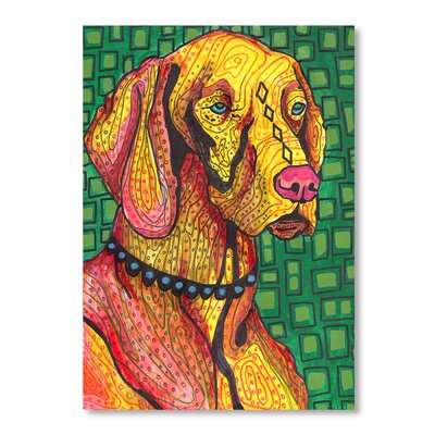 Americanflat Vizsla Art Print Wrapped on Canvas