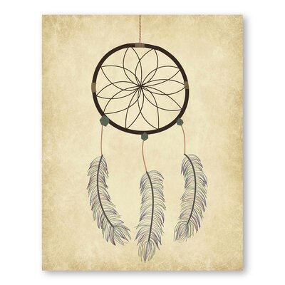 Americanflat Dream Catcher On Papyrus Graphic Art