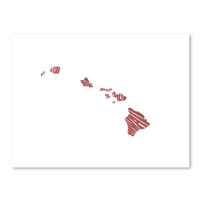 Americanflat Hawaii Typography on Canvas
