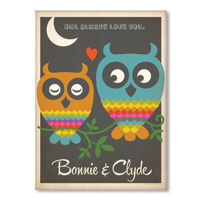Americanflat Owls Graphic Art on Canvas