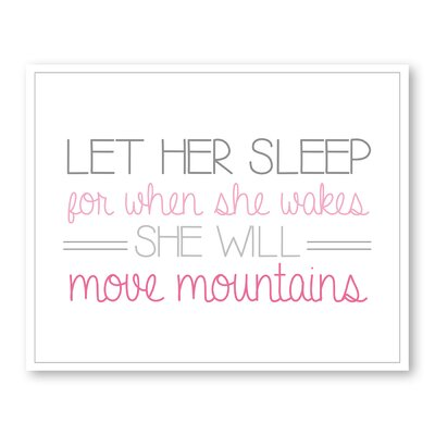 Americanflat Girl's Move Mountains Typography Wrapped on Canvas