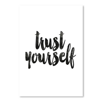 Americanflat Trust Yourself Typography on Canvas