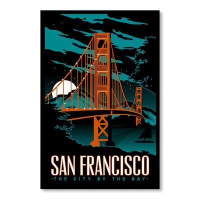 Americanflat San Francisco Night Vintage Advertisement