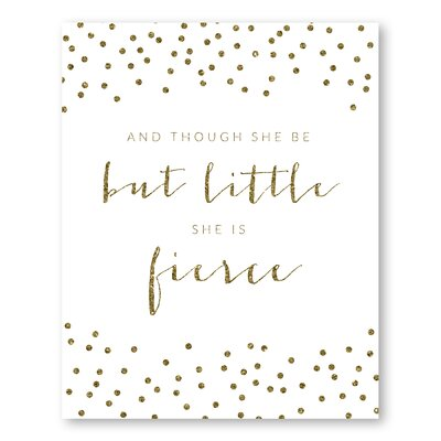 Americanflat Fierce Sparkle Confetti Typography Wrapped on Canvas