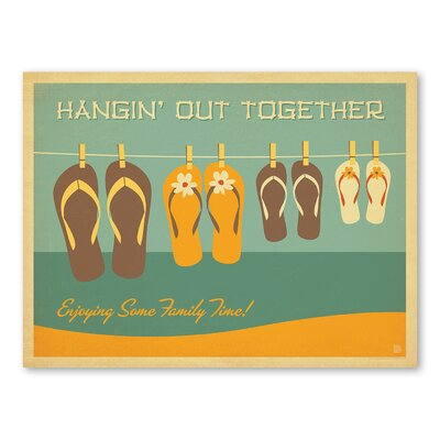 Americanflat Flip Flops Hanging Out Graphic Art