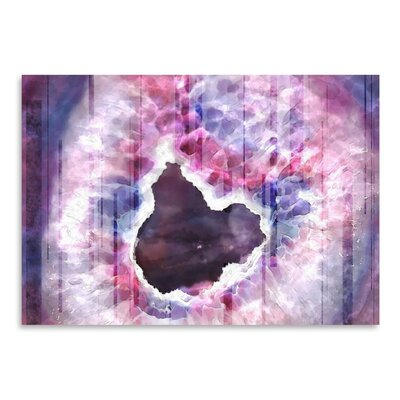 Americanflat Rain Agate Graphic Art Wrapped on Canvas