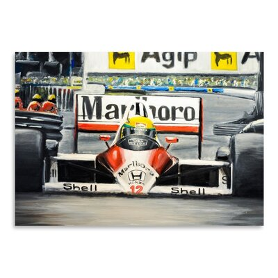Americanflat Honda 12 Photographic Print Wrapped on Canvas