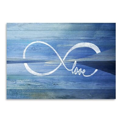 Americanflat Love Infinity Art Print Wrapped on Canvas