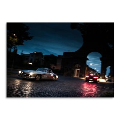 Americanflat Car City Photographic Print Wrapped on Canvas
