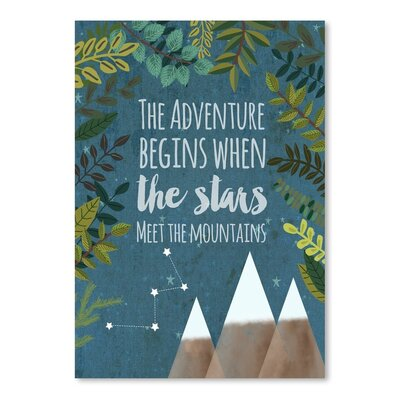 Americanflat The Adventure Begins Graphic Art Wrapped on Canvas