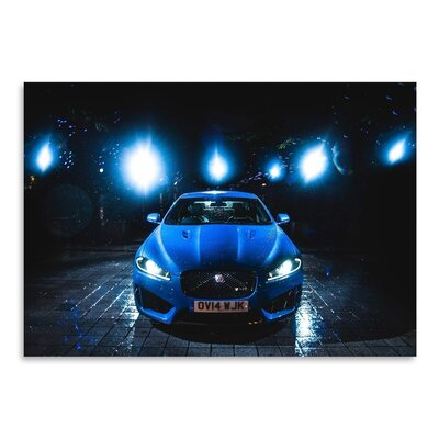 Americanflat Blue Car 2 Photographic Print