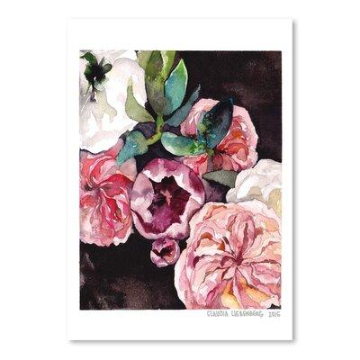 Americanflat Blooms on Black 4 Art Print
