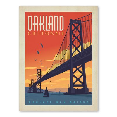 Americanflat Asa Oakland Vintage Advertisement Wrapped on Canvas