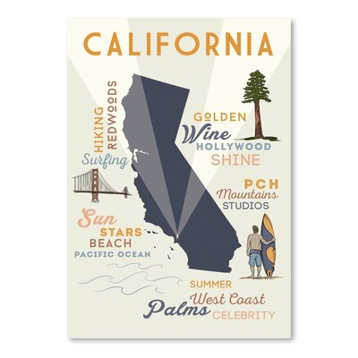 Americanflat 53745 Vintage Advertisement Wrapped on Canvas