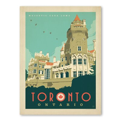 Americanflat WT Toronto Casa Loma Vintage Advertisement
