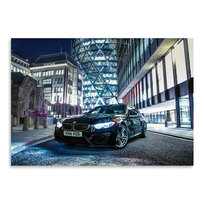 Americanflat BMW Black Photographic Print Wrapped on Canvas