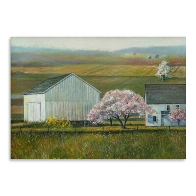 Americanflat Bucks Co Spring Art Print Wrapped on Canvas