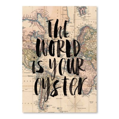 Americanflat The World Is Your Oyster Graphic Art on Canvas