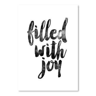 Americanflat Filled with Joy Typography on Canvas