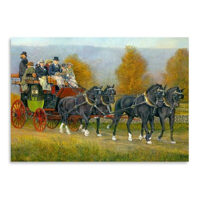 Americanflat Morning Drive Art Print Wrapped on Canvas