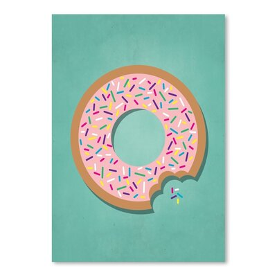 Americanflat Sweets Donut Graphic Art Wrapped on Canvas