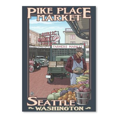 Americanflat Pike Place Vintage Advertisement