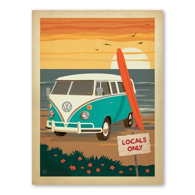 Americanflat Cc Localsonly Vw Vintage Advertisement Wrapped on Canvas