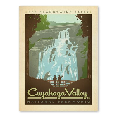 Americanflat Asa National Park Cuyahoga Vintage Advertisement Wrapped on Canvas