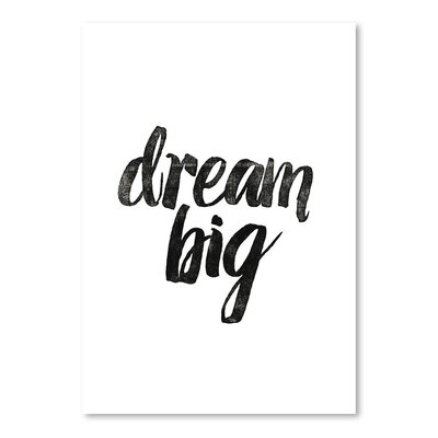 Americanflat Dream Big Typography Wrapped on Canvas