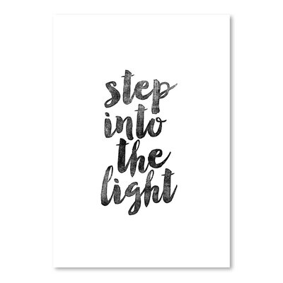 Americanflat Step into The Light Typography Wrapped on Canvas