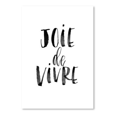 Americanflat Joie de Vivre Typography Wrapped on Canvas
