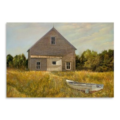 Americanflat Huppers Barn Art Print Wrapped on Canvas