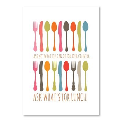 Americanflat Ask What's for Lunch Graphic Art Wrapped on Canvas