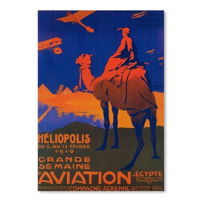 Americanflat Heliopolis Aviation Vintage advertisement