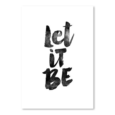 Americanflat Let it Be Typography Wrapped on Canvas