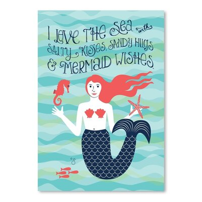 Americanflat Nautical Mermaid Vintage Advertisement Wrapped on Canvas