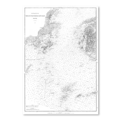 Americanflat West Penobscot Bay Maine Map Graphic Art