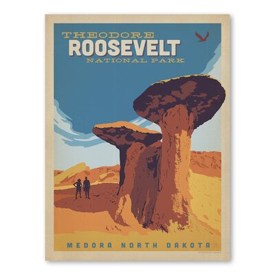 Americanflat Asa National Park Theodore Roosevelt Vintage Advertisement