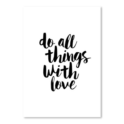 Americanflat Do All Things with Love Typography Wrapped on Canvas