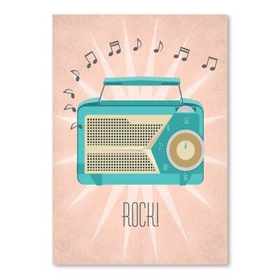 Americanflat Vintage Radio Graphic Art