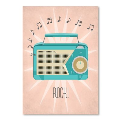 Americanflat Vintage Radio Graphic Art Wrapped on Canvas