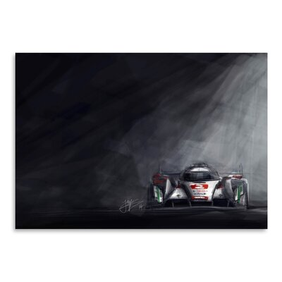 Americanflat Audi R18 Graphic Art Wrapped on Canvas