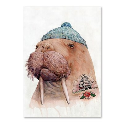 Americanflat Tattooed Walrus Art Print Wrapped on Canvas