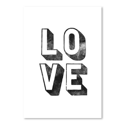 Americanflat Love Block Typography Wrapped on Canvas