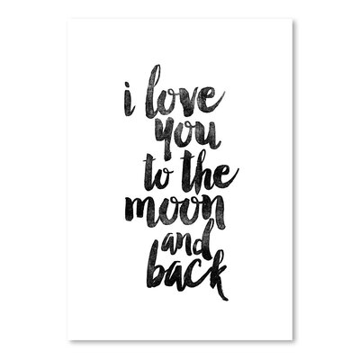 Americanflat I Love You to the Moon and Back Typography