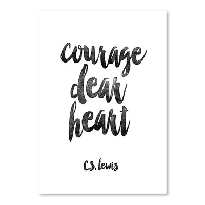 Americanflat Courage Dear Heart Typography Wrapped on Canvas