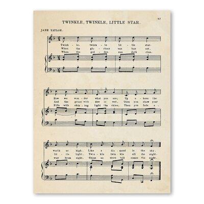 Americanflat Twinkle Twinkle Little Star Sheet Music Graphic Art